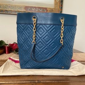Tory Burch Quilted Leather Tote